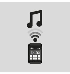 Smartwatch app music media graphic vector