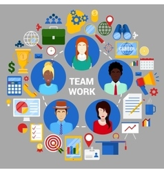 Team work planning strategy corporate business vector
