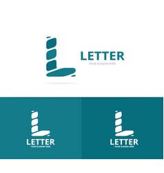 unique letter l logo design template vector image