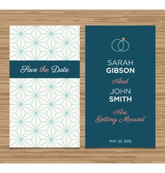 Wedding card pattern green 01 vector