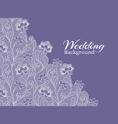 wedding floral background with lace pattern vector image vector image