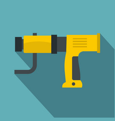 yellow hand drill icon flat style vector image vector image