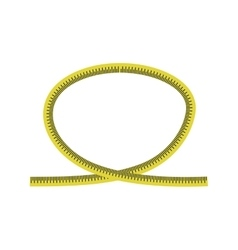 Meter yellow tape measure icon graphic vector