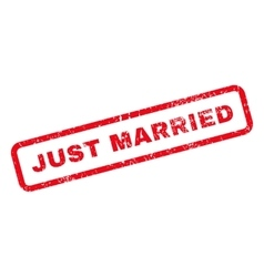 Just married text rubber stamp vector