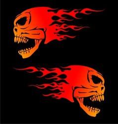 Fire skulls vector