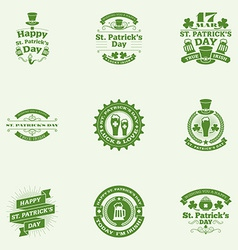 Set of st patricks day vintage holiday badges vector