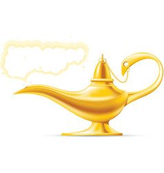 Aladdin magic lamp vector