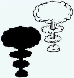 Explosion nuclear bomb vector image
