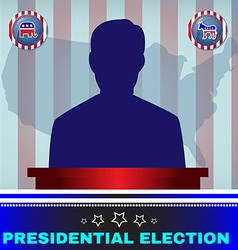 Presidential election candidate elephant versus vector