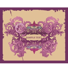 Grunge Decorative Label vector image
