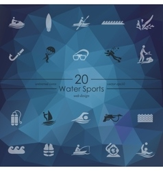 Set of water sports icons vector image