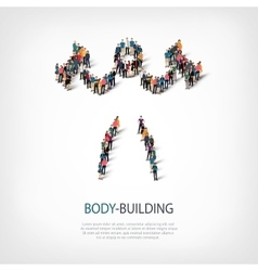 People sports body-building vector