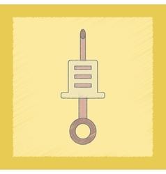 Flat shading style icon kids syringe vector