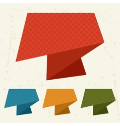 Abstract retro origami banners and speech bubbles vector image vector image