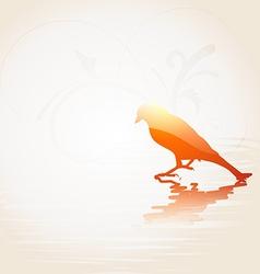 Beautiful bird vector