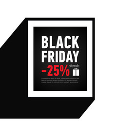 Black friday sale banner sale 25 off sitewide vector