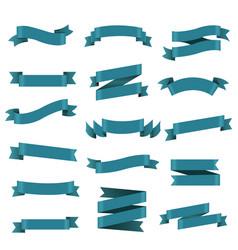 blue ribbon set vector image vector image