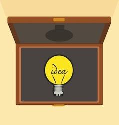 Bulb light idea brief case vector