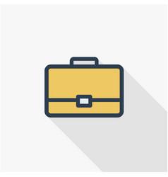 case briefcase career symbol portfolio thin vector image