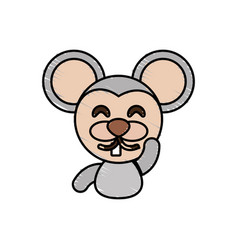 draw mouse animal comic vector image vector image