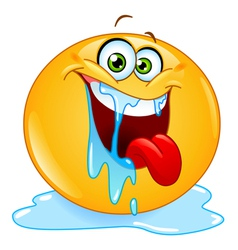drooling emoticon vector image