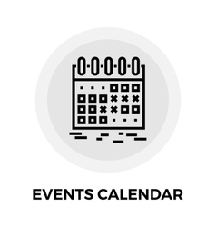 Events calendar line icon vector