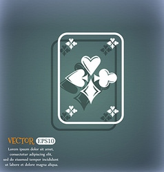 game cards icon On the blue-green abstract vector image vector image