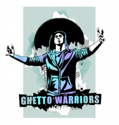 ghetto warriors vector image vector image