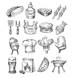 Hand draw barbecue vector