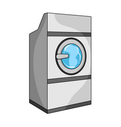 Industrial washing machine dry cleaning single vector