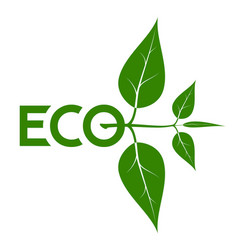 logo on the theme of ecology energy saving vector image vector image