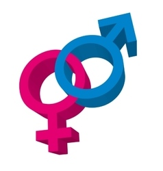 male and female symbol isolated icon vector image vector image