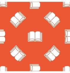 Orange book pattern vector