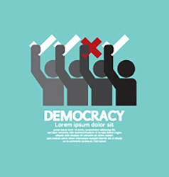 People showing vote yes and no democracy concept vector