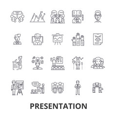 presentation business presenter meeting vector image