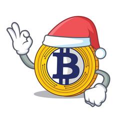 santa bitcoin gold character cartoon vector image vector image