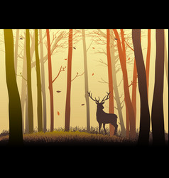 silhouette of a deer vector image