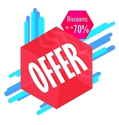 Special offer sale tag discount symbol mega sale vector image vector image