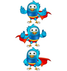 Super Blue Birds Set 2 vector image vector image