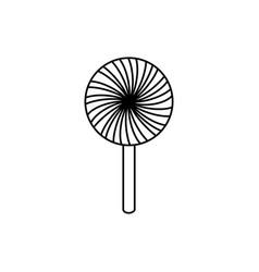 sweet lollipop isolated icon vector image