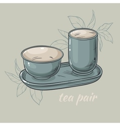 tea pair vector image