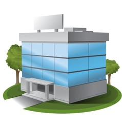 Threed office building vector