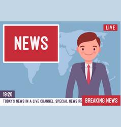 Tv news anchorman vector