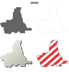Union map icon set vector