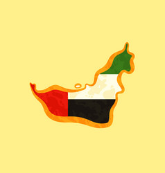 United arab emirates - map colored with emirati vector