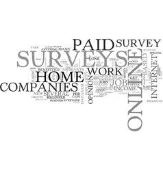 Why paid online surveys are popular as work at vector
