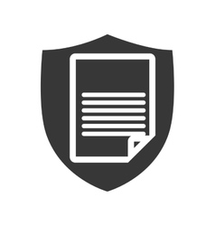 Document shield information data paper icon vector