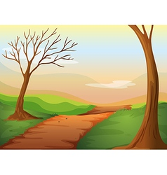 Lonely road in beautiful nature vector