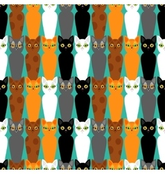 Cute cats colorful seamless pattern background vector
