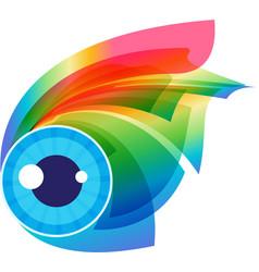 eye visage vector image